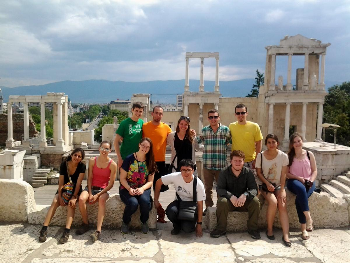 ARCS Field School students at the theater of Philippopolis